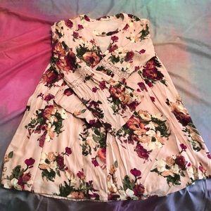 Gorgeous floral peasant dress